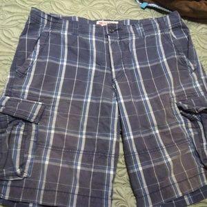 Mossimo Supply Co Plaid Cargo Shorts